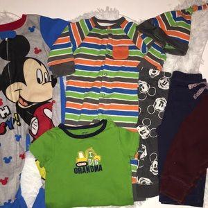 Baby boy lot size 9 months sleeper Disney pants